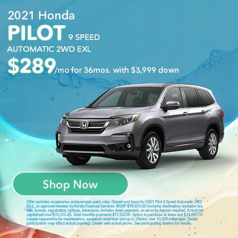 2021 Honda Pilot 9 Speed Automatic 2WD EXL