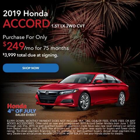 June 2019 Honda Accord 1.5T LX 2WD CVT