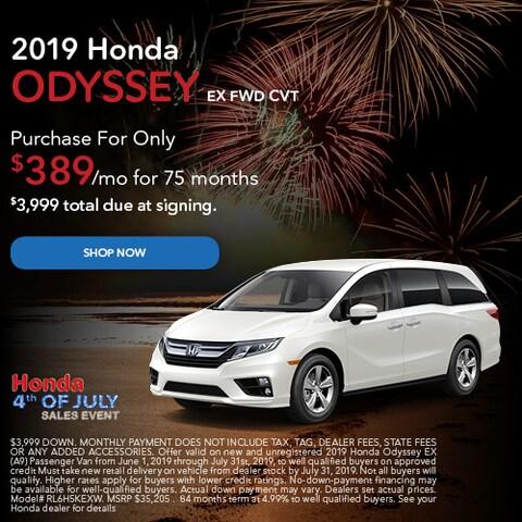 June 2019 Honda Odyssey EX FWD CVT