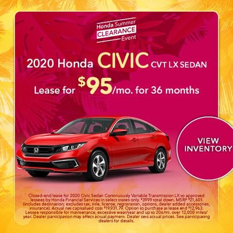 2020 Honda Civic CVT LX Sedan