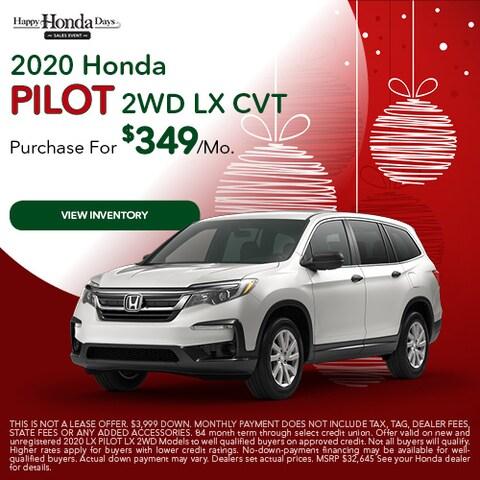 2020 Honda Pilot 2WD LX CVT