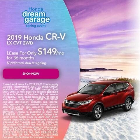 April 2019 Honda CR-V LX CVT 2WD