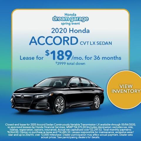 2020 Honda Accord CVT LX Sedan