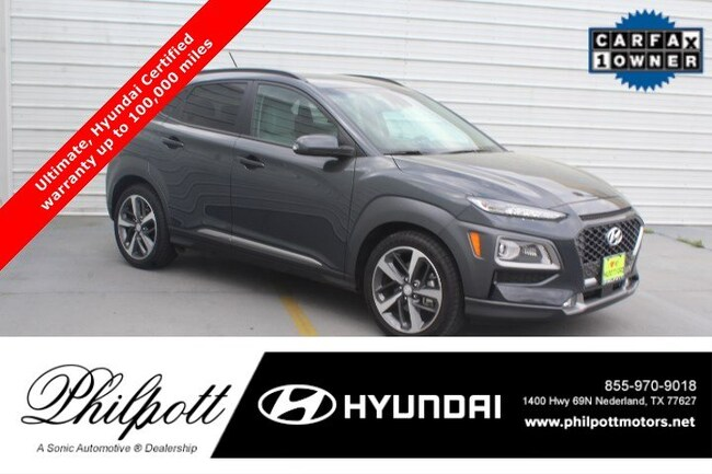 Certified 2018 Hyundai Kona Ultimate  1.6T DCT SUV in Beaumont