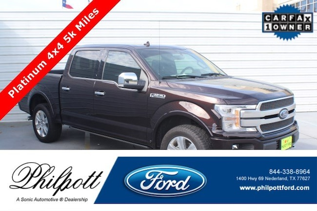 Used 2018 Ford F-150 Platinum  4WD Supercrew 5.5 Box Truck SuperCrew Cab for sale in Nederland, TX