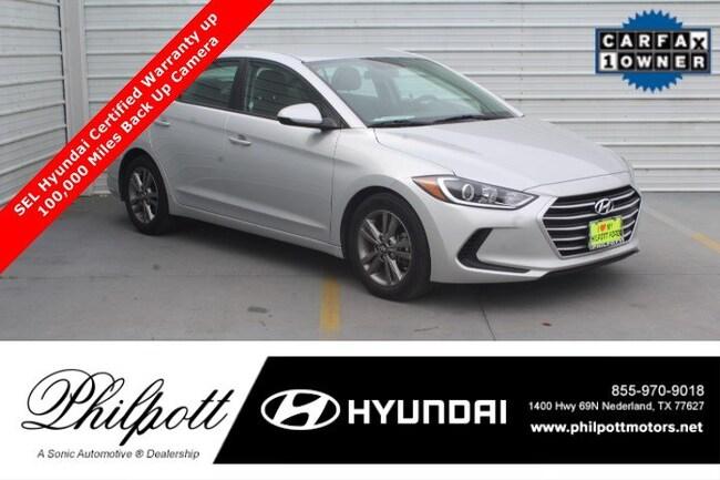 Certified 2018 Hyundai Elantra SEL  2.0L Auto Alabama Sedan in Beaumont