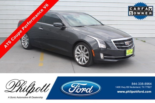 Used 2015 CADILLAC ATS Performance RWD 2dr Cpe 3.6L Coupe for sale in Nederland, TX