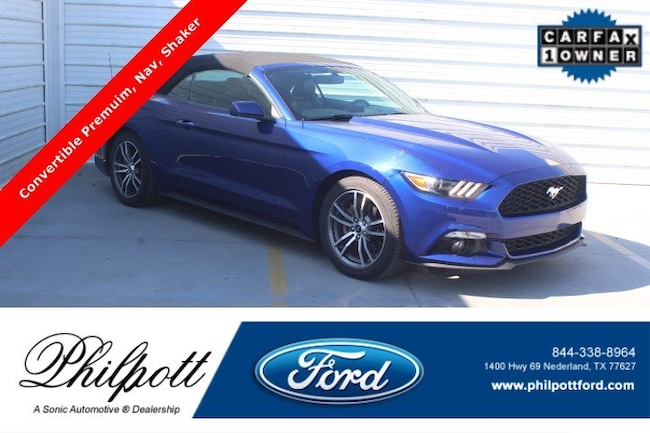 Used 2016 Ford Mustang Ecoboost Premium 2dr Conv Convertible for sale in Nederland, TX