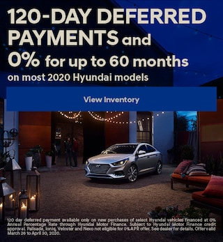 120-Day Deferred Payments and 0% for up to 72 months