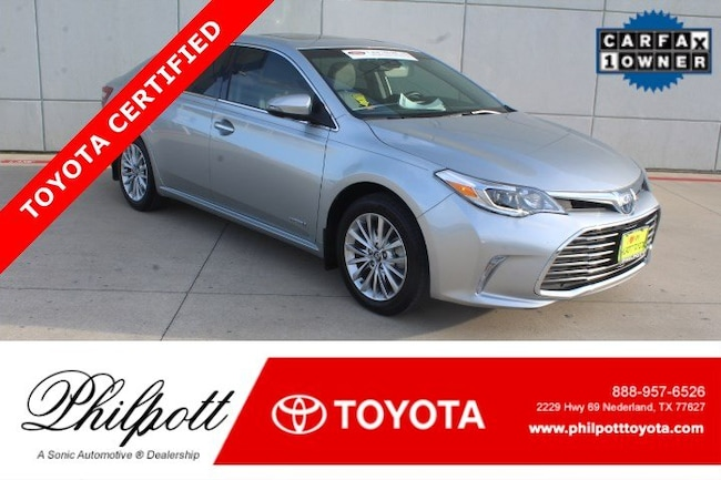 Certified 2018 Toyota Avalon Hybrid Hybrid Limited Natl For Sale In