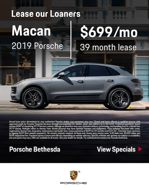 2019 Porsche Macan Loaner Specials