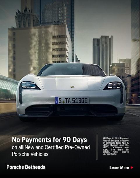 90 Days No Payments on Porsche Vehicles