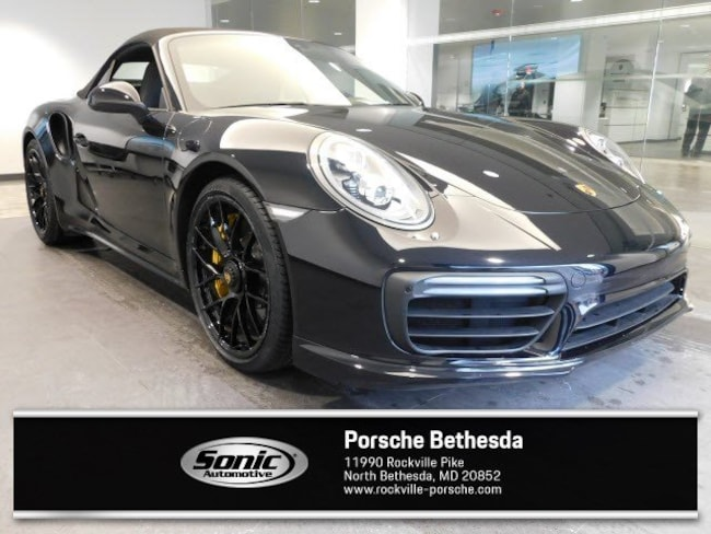 Certified Pre-Owned 2017 Porsche 911 Turbo S  Cabriolet Cabriolet for sale in Rockville, MD