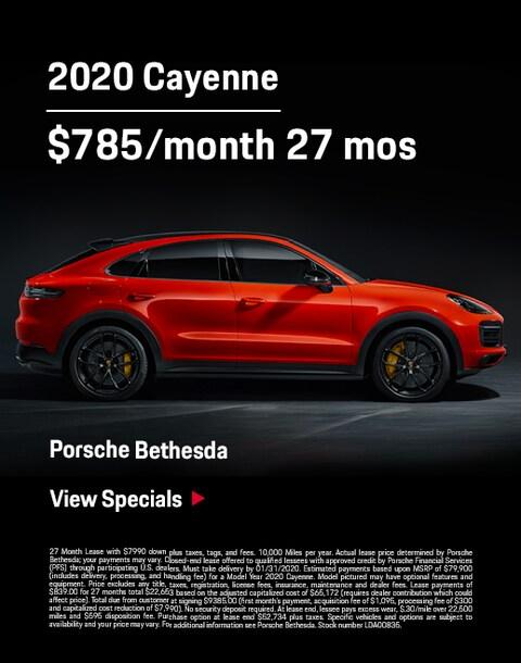 2020 cayenne lease offer Porsche