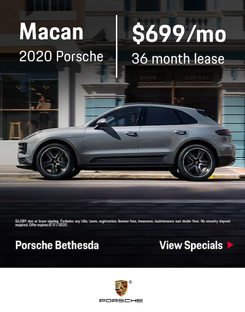 2020 Porsche Macan Lease Specials