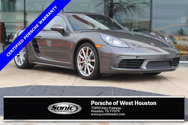 Certified Pre-Owned 2017 Porsche 718 Cayman S  Coupe Coupe for sale in Houston, TX