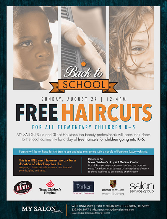 Free Haircuts Back To School Porsche Of West Houston