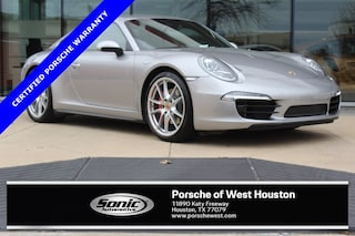 Certified Pre-Owned 2014 Porsche 911 Carrera 4S 2dr Cpe Silver Coupe for sale in Houston, TX