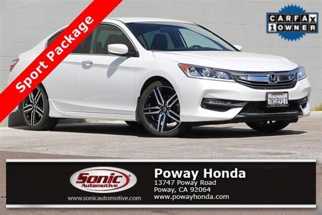 used 2016 Honda Accord Sport Sedan near San Diego