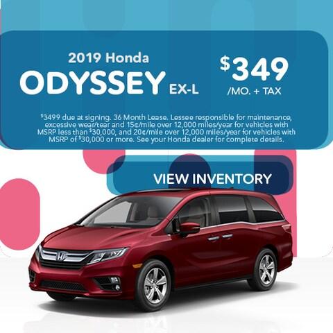 2019 Honda Odyssey - Lease
