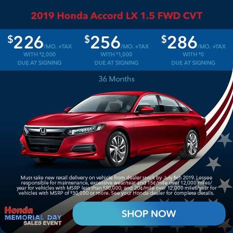 May 2019 Honda Accord LX 1.5 FWD CVT