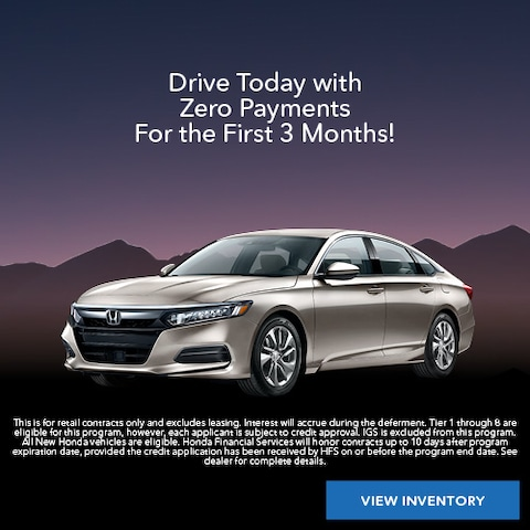 Drive Today with Zero Payments For the First 3 Months!