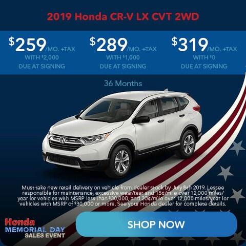 May 2019 Honda CR-V LX CVT 2WD