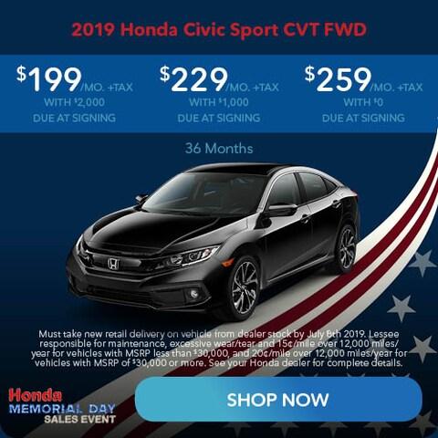 May 2019 Honda Civic Sport CVT FWD