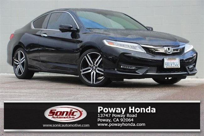 Certified 2017 Honda Accord Touring V6 Coupe near San Diego