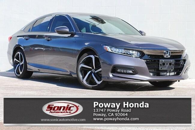 2018 Honda Accord Sport 2 0t Sedan