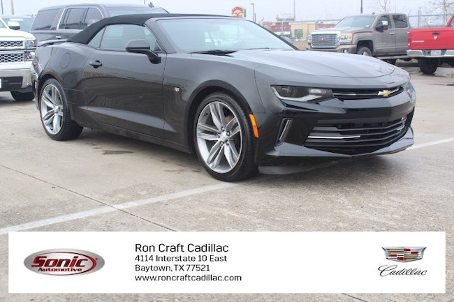 Certified Pre-Owned 2018 Chevrolet Camaro LT 2dr Conv  w/1 Convertible for sale in Baytown, TX, near Houston