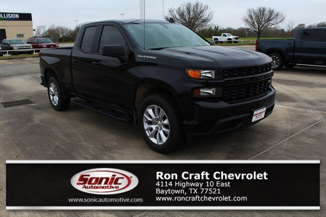 New 2019 Chevrolet Silverado 1500 Silverado Custom Truck Double Cab for sale near Houston in Baytown