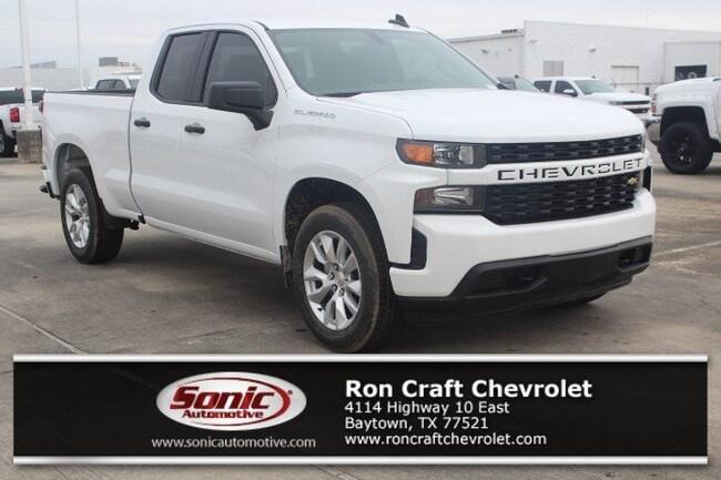 New 2019 Chevrolet Silverado 1500 Silverado Custom Truck Double Cab for sale near Houston in Baytown
