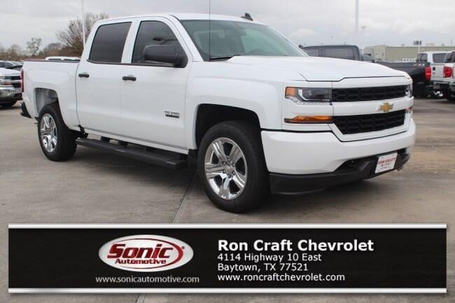 New 2018 Chevrolet Silverado 1500 Silverado Custom Truck Crew Cab for sale near Houston in Baytown