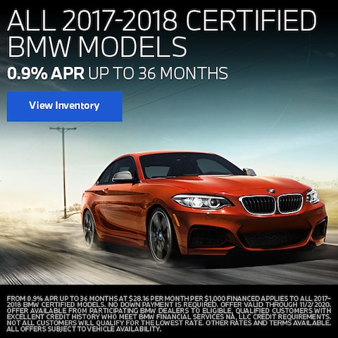 All 2017-2018 Certified BMW Models