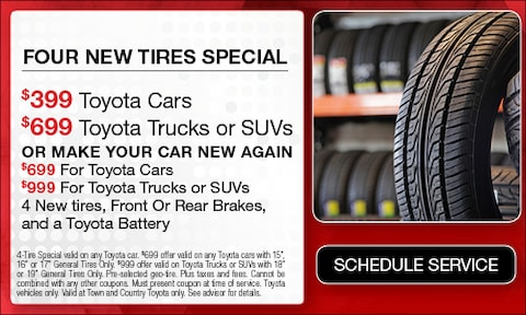 Four New Tires Special