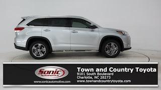 New 2019 Toyota Highlander Limited Platinum V6 SUV for sale in Charlotte