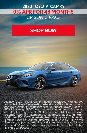 Financing Offer : 0.0% APR for 48 months on select Toyota Camry models