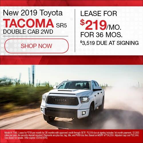 New 2019 Toyota Tacoma SR5 Double Cab 2WD
