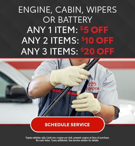 Engine, Cabin, Wipers or Battery