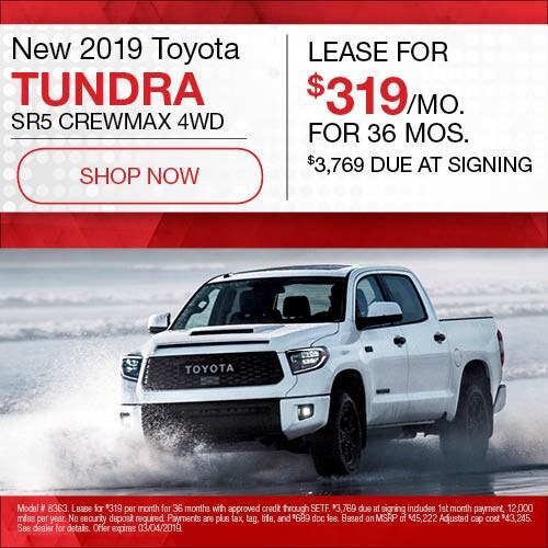 New 2019 Toyota Tundra SR5 CrewMax 4WD