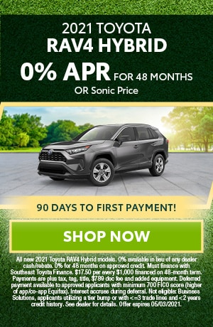 Financing Offer : 0.0% APR for 48 months on select Toyota RAV4 Hybrid models