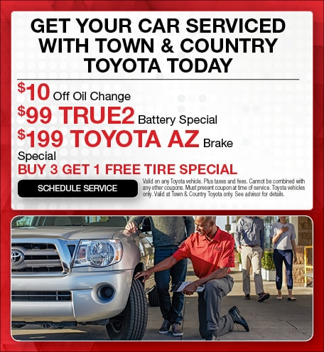Get Your Car Serviced with Town & Country Toyota Today