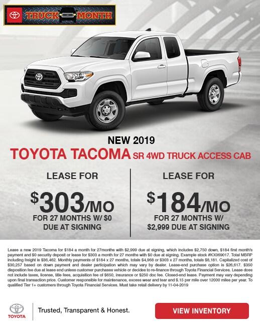 2019 Toyota Tacoma Lease Special