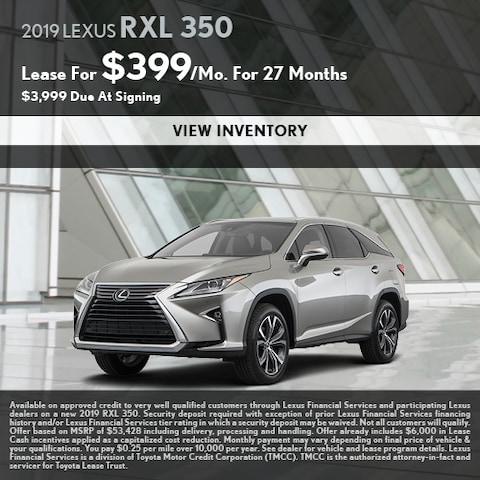 2019 Lexus RXL 350
