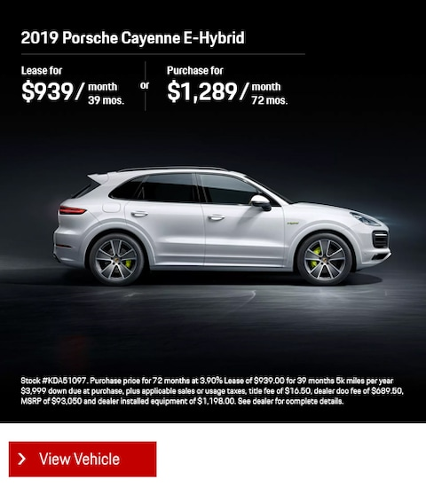 2019 Porsche Cayenne E-Hybrid