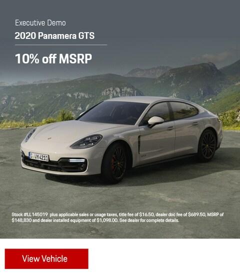 Demonstrator 2020 Porsche Panamera GTS