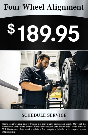 Four Wheel Alignment $189.95