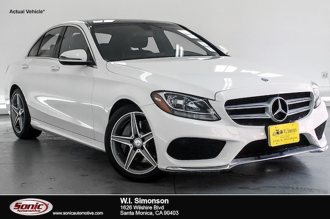 Certified Used 2016 Mercedes-Benz C-Class C 300 Sport 4dr Sdn  RWD Sedan in Santa Monica