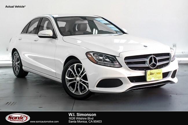Certified Used 2015 Mercedes-Benz C-Class C 300 Sport 4dr Sdn  RWD Sedan in Santa Monica